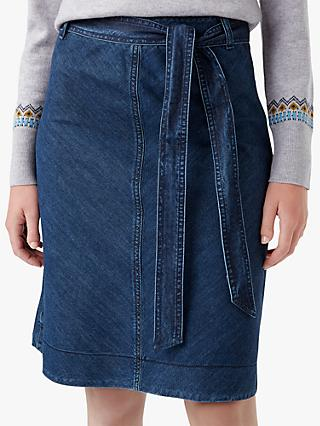 Hobbs Tori Denim Skirt, Blue