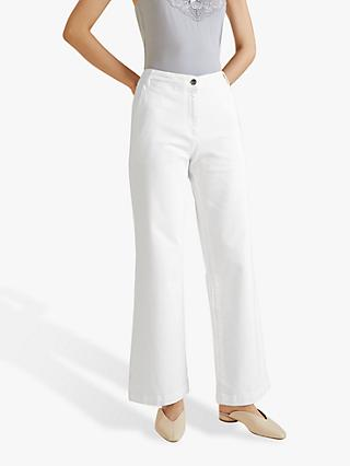 Jigsaw Soft Drill Trousers, White