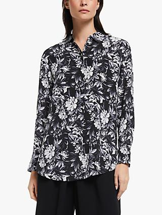 Modern Rarity Archive Floral Print Boyfriend Shirt, Black/Multi