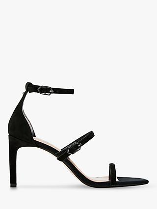Ted Baker Tria Leather Stiletto Heel Sandals, Black
