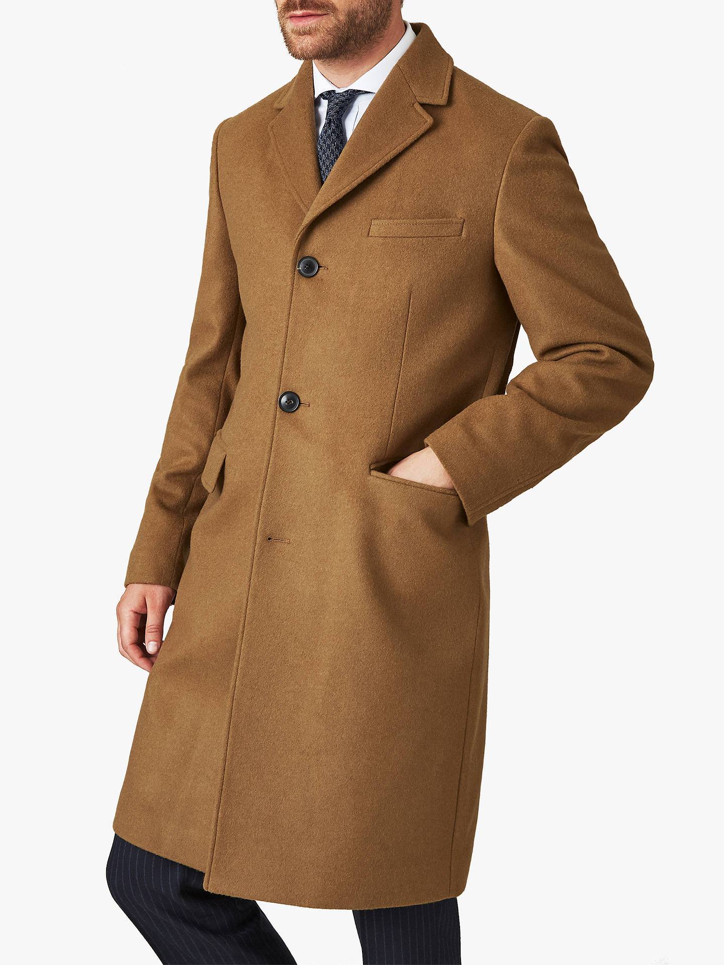 new products the best good looking Jaeger Wool Cashmere Overcoat, Camel
