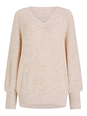 Buy Modern Rarity Raglan V-Neck Jumper, Natural, XS Online at johnlewis.com