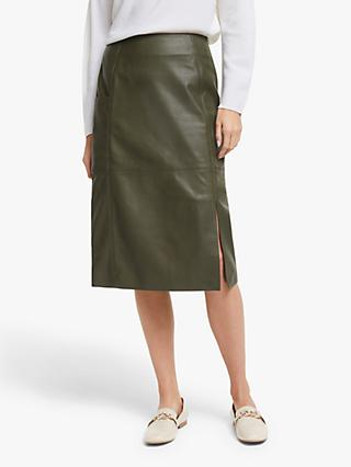 Modern Rarity Leather Skirt, Green