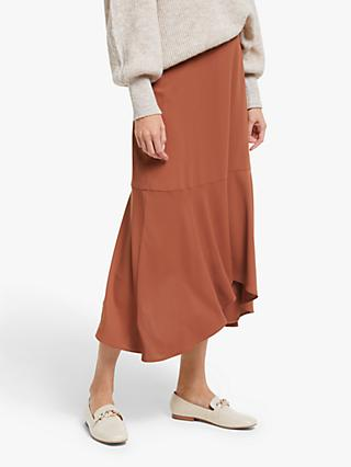 Modern Rarity Hanky Hem Skirt, Orange