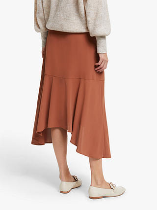 Buy Modern Rarity Hanky Hem Skirt, Orange, 8 Online at johnlewis.com