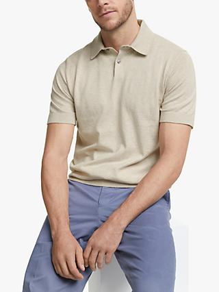 John Lewis & Partners Cotton Silk Knitted Polo Shirt