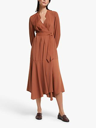 Modern Rarity Hanky Hem Wrap Dress, Orange