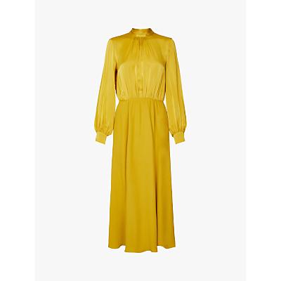 Ghost Renae Satin Dress, Yellow