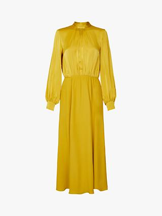 Ghost Renae Satin Dress, Yellow