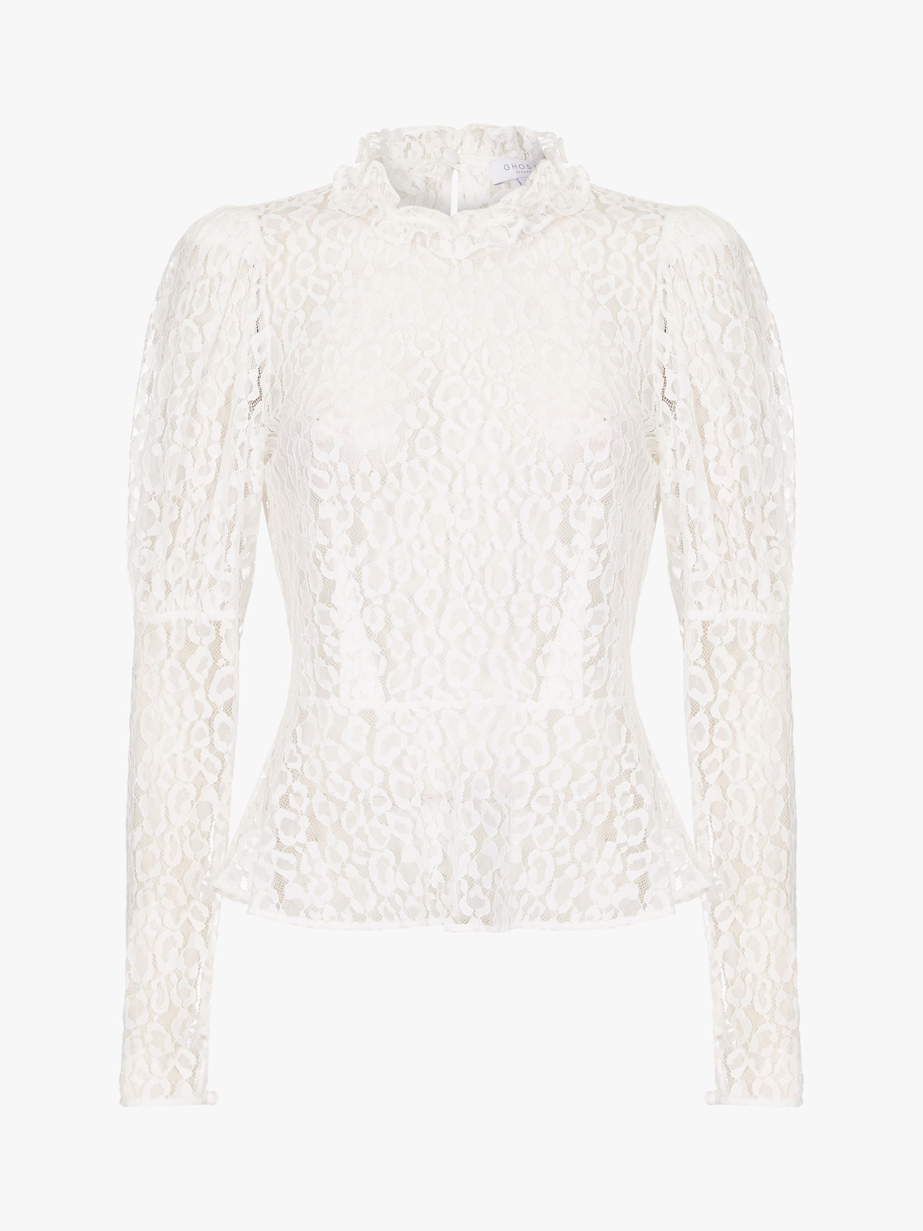 Ghost Ghost Lecice Sheer Lace Blouse
