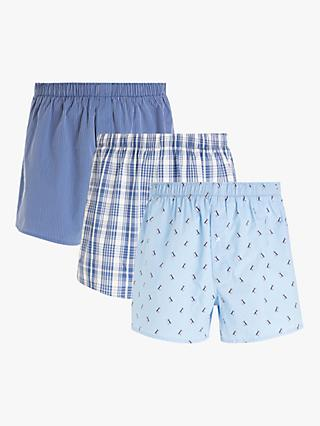 John Lewis & Partners Puffin Organic Cotton Boxers, Pack of 3, Multi