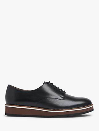 L.K.Bennett Sandy Leather Platform Brogues, Black