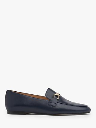 L.K.Bennett Marina Leather Loafers, Navy