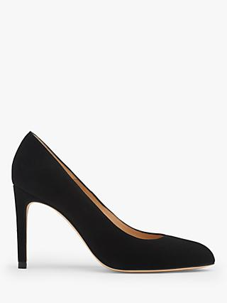 L.K.Bennett Whitney Suede Court Shoes, Black