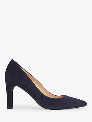 L.K.Bennett Tess Suede  Block Heeled Court Shoes