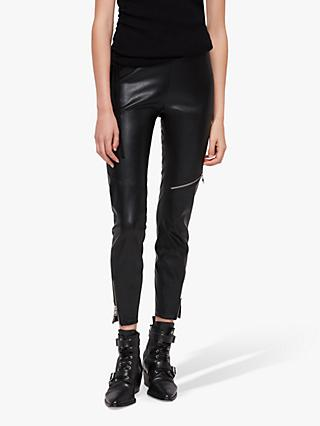 AllSaints Kriva Biker Leggings, Black