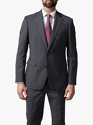 Chester by Chester Barrie Micro Puppytooth Travel Suit Jacket, Grey