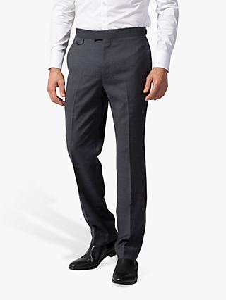 Chester by Chester Barrie Micro Puppytooth Travel Suit Trousers, Grey