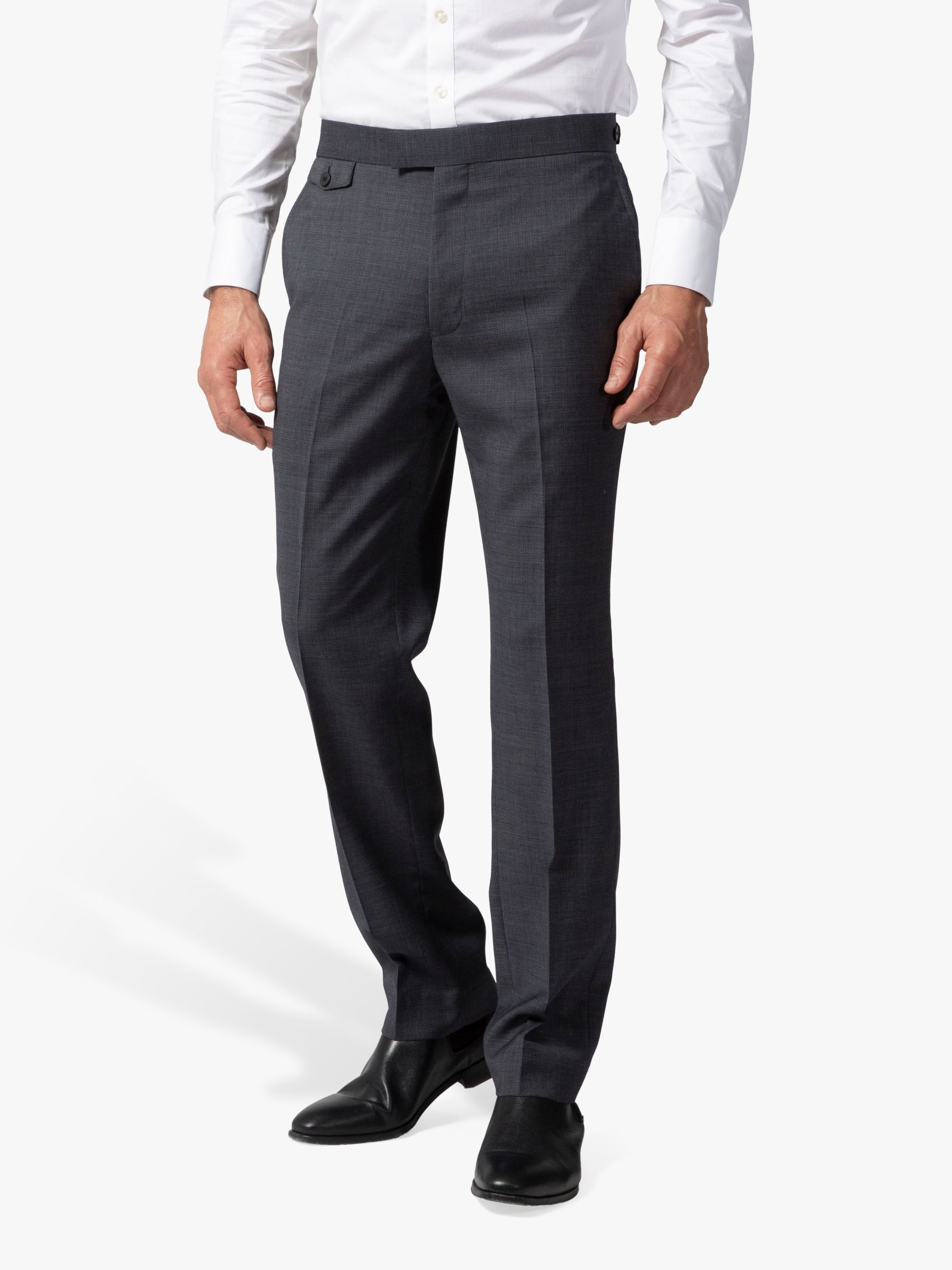 Chester by Chester Barrie Chester by Chester Barrie Micro Puppytooth Travel Suit Trousers, Grey
