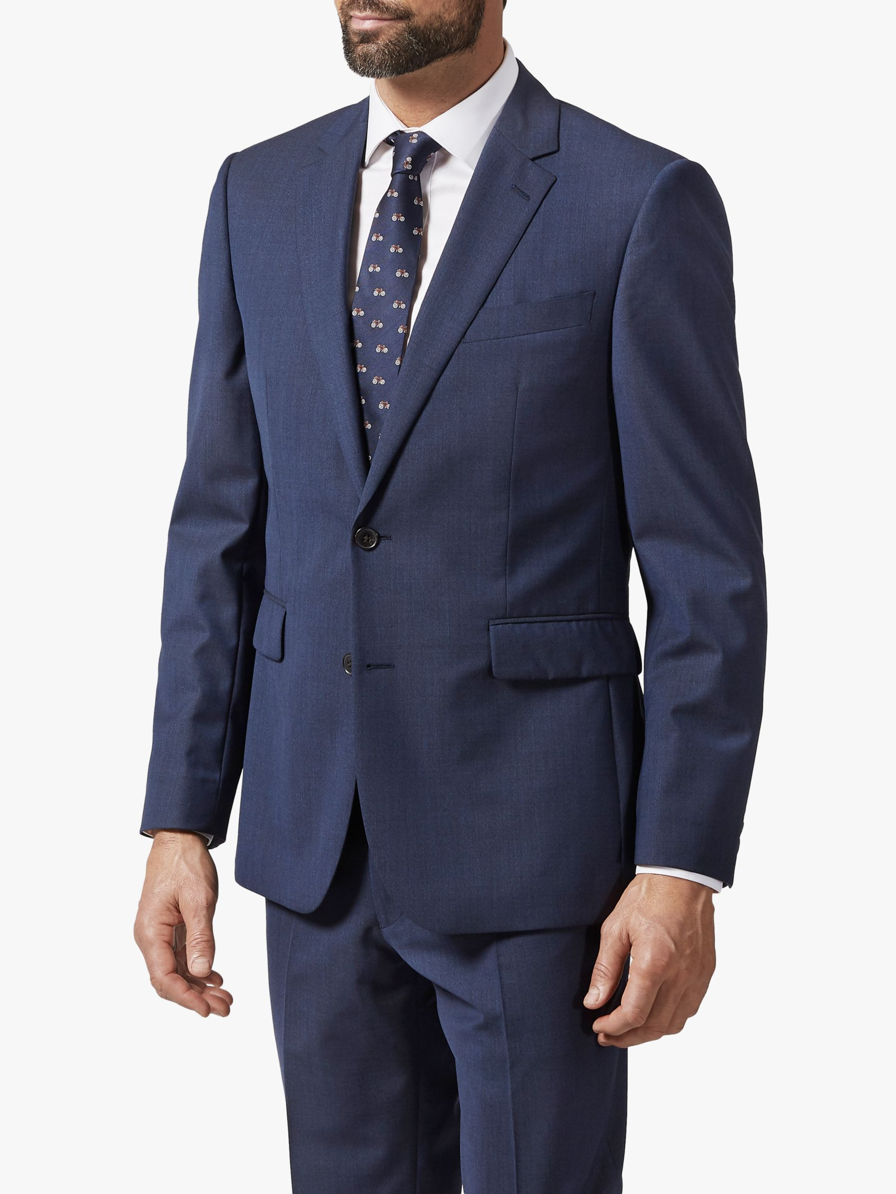 Chester by Chester Barrie Chester by Chester Barrie Melange Wool Travel Suit Jacket, Navy
