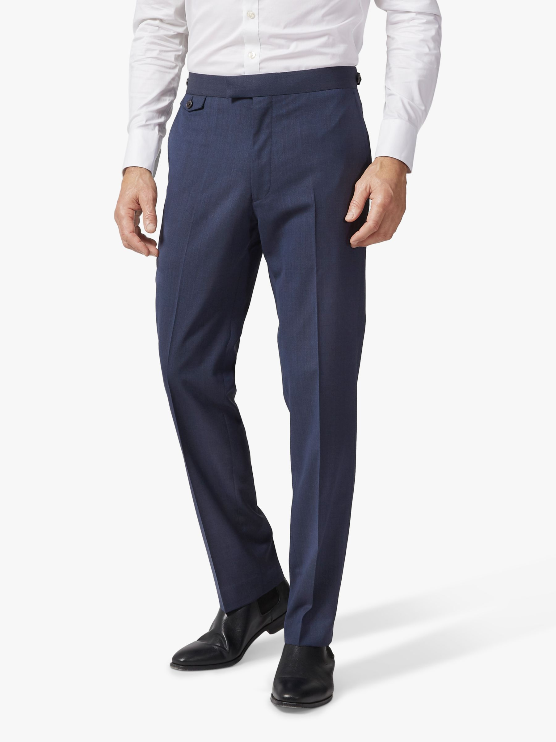 Chester by Chester Barrie Chester by Chester Barrie Melange Wool Travel Suit Trousers, Navy