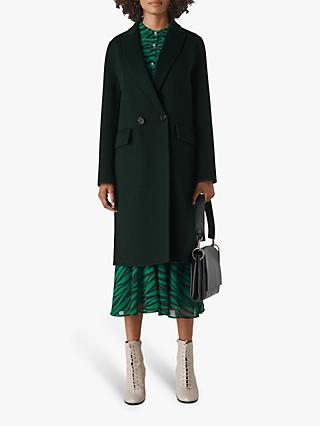 Whistles Double Faced Coat, Dark Green