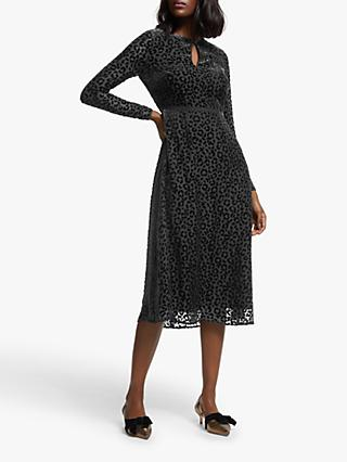Boden Marie Devore Dress, Black