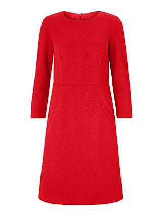 Boden Agnes Jacquard Dress, Poinsettia Red