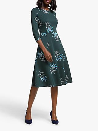 Boden Nancy Floral Ponte Dress, Midnight Garden