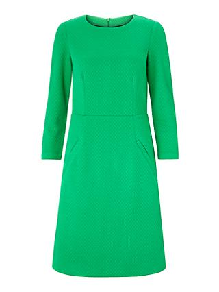 Boden Agnes Jacquard Dress, Highland Green