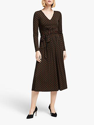 Boden Ferne Leaf Print Jersey Midi Dress