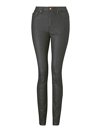 Boden Super Skinny Jeans, Black Wax