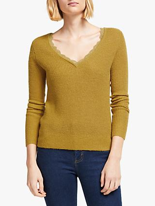 Boden Kelsey Ribbed V-Neck Jumper