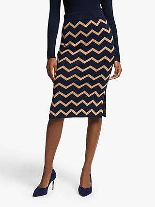Boden Antonia Skirt, Metallic Navy