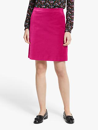 Boden Mimi Velvet Skirt, English Berry