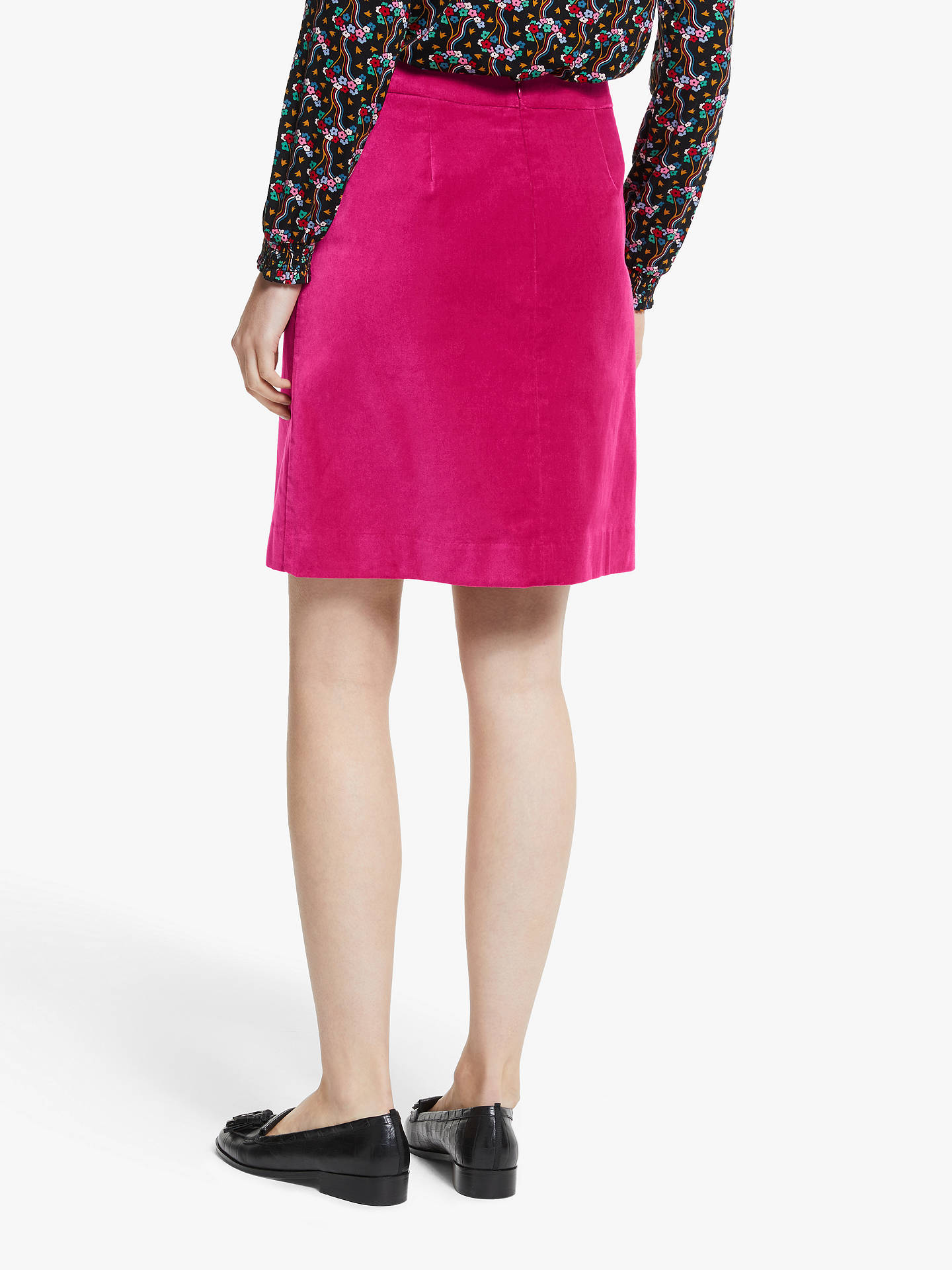 Buy Boden Mimi Velvet Skirt, English Berry, 8R Online at johnlewis.com