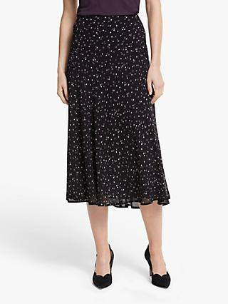 Boden Tabitha Floral Midi Skirt, Black/Sweet Flower