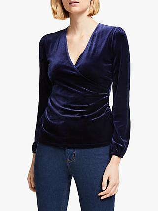 Boden Ellie Wrap Top, Navy