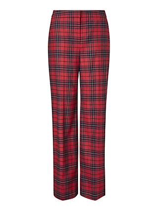 Boden Inverness Check Trousers, Poinsettia Check