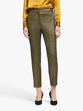 Boden Belgravia Trousers, Gold Metallic