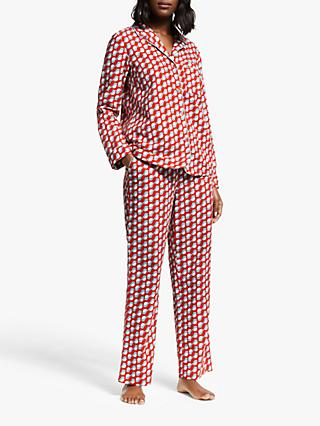 Boden Vanessa Cosy Bird Pyjama Bottoms, Post Box Red