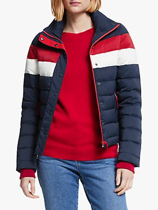 Boden Caddick Quilted Puffer Jacket, Navy