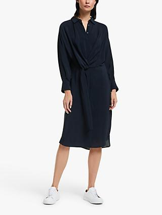 Modern Rarity Tie Front Dress, Navy
