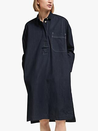 Kin Denim Workwear Dress, Indigo