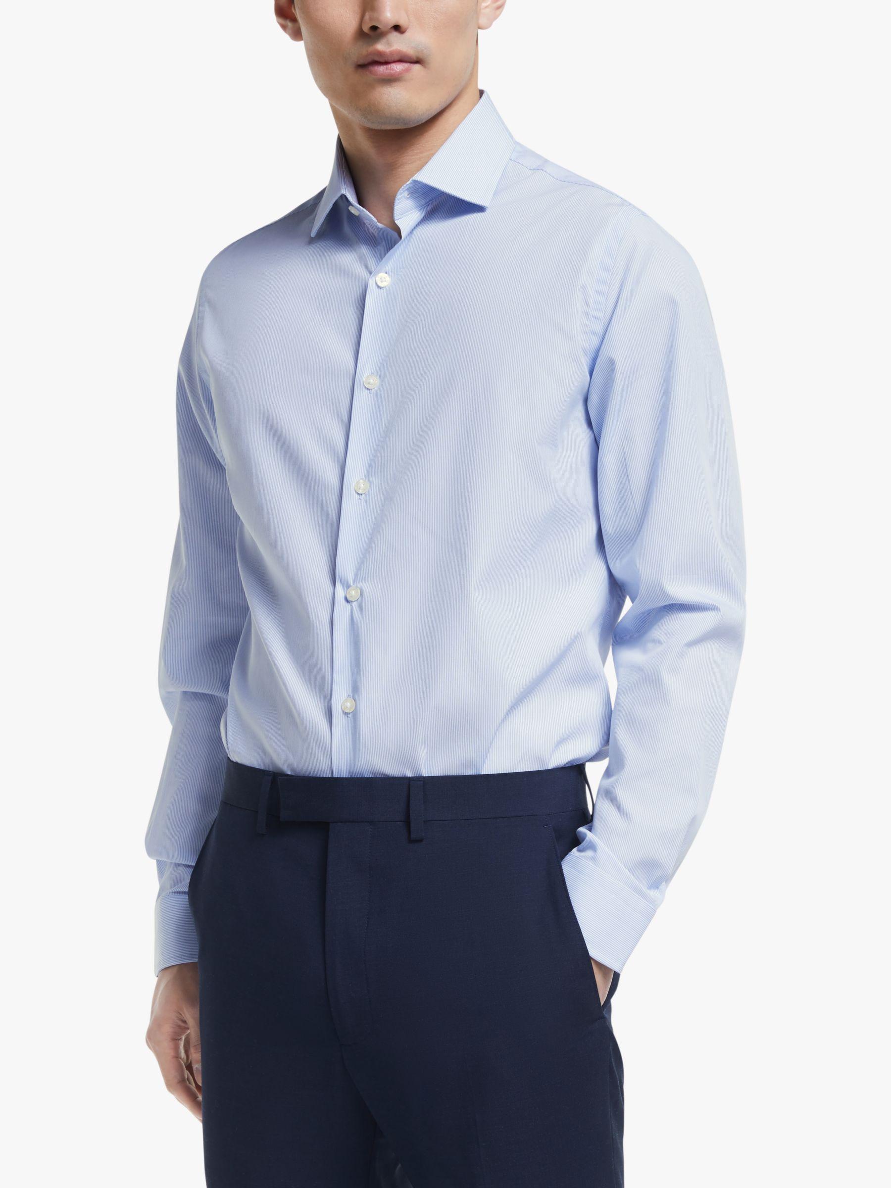 Richard James Mayfair Richard James Mayfair Bengal Stripe Shirt, Blue