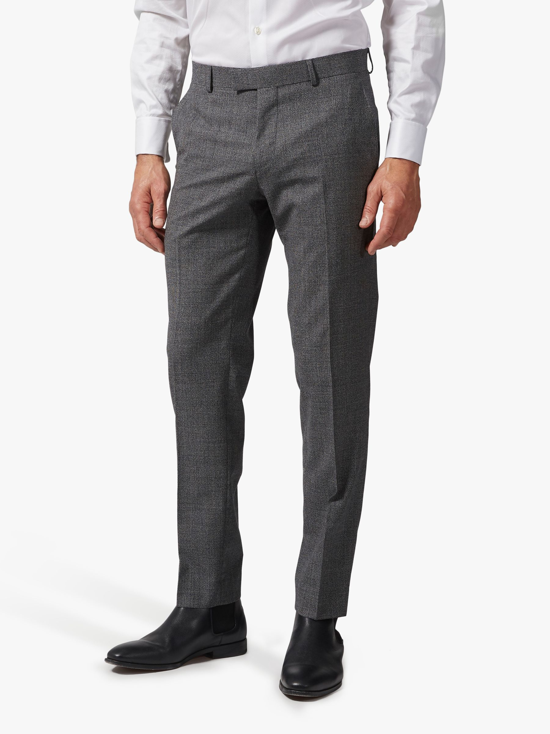 Richard James Mayfair Richard James Mayfair Melange Wool Tailored Suit Trousers, Grey