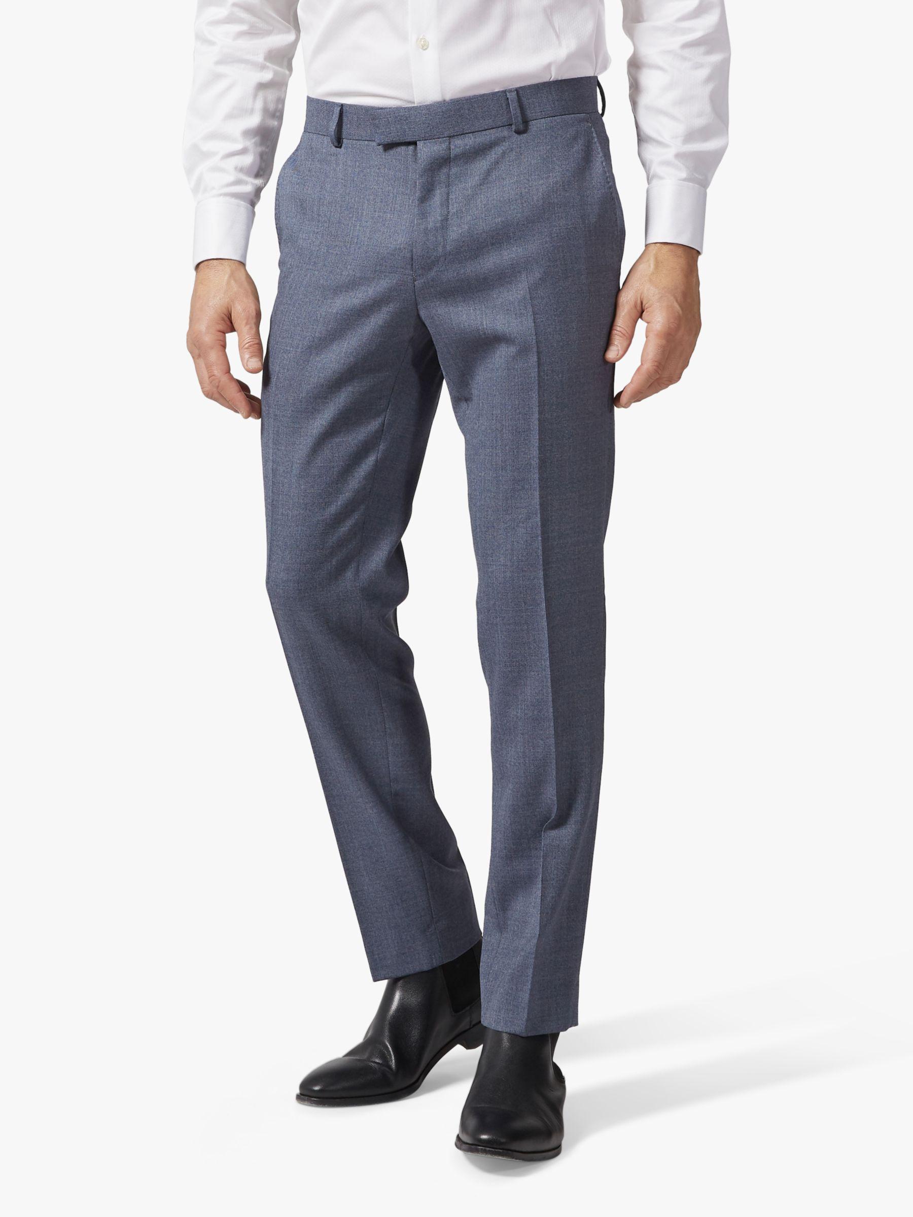 Richard James Mayfair Richard James Mayfair Wool Suit Trousers, Mid Blue