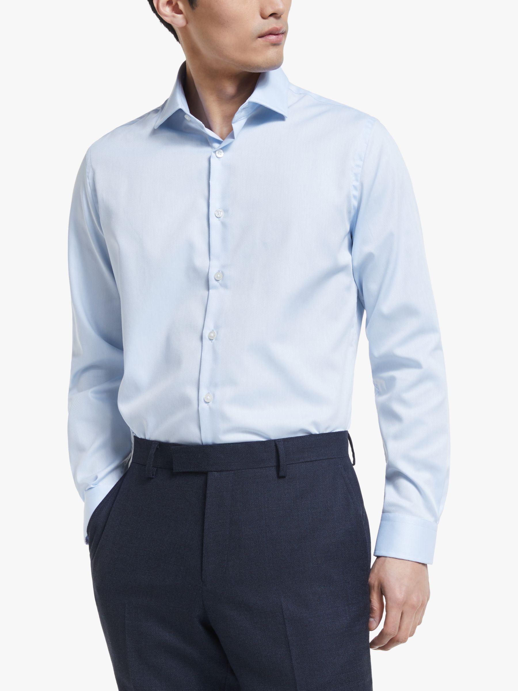 Richard James Mayfair Richard James Mayfair Dashed Twill Shirt, Blue