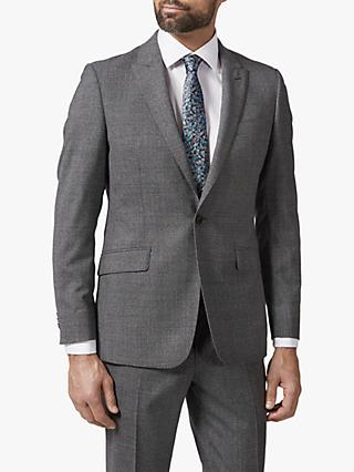 Richard James Mayfair Single Button Melange Suit Jacket, Grey