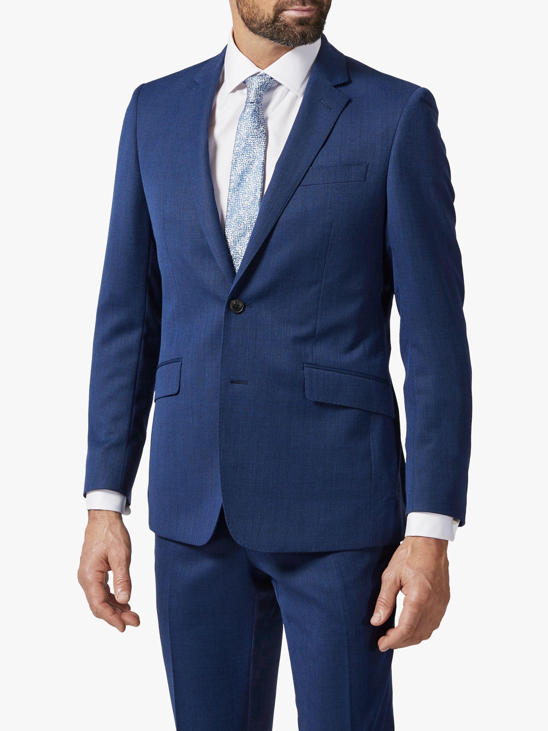 Richard James Mayfair Richard James Mayfair Geo Wool Tailored Suit Jacket, Dark Blue